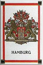 Magnet - Wappen Hamburg - Gr. ca. 8 x 5,5 cm -