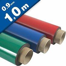Magnetfolie farbig beschichtet 0,9mm x 60cm x
