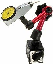 Magnetfuss mit grossem Stand - SODIAL(R)Flexibler Magnetfuss Halter Standplatz + Skalenpraezision Messuhr Messgerae