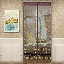 Magnetic Screen Door halten Insekten aus Moskito-Tür-Bildschirm, oben-unten-Dichtung automatisch, halten Sie sich von Moskitos Vorhang für Balkon Schiebetüren Wohnzimmer Kinderzimmer (140*240cm, A)