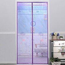 Magnetische Anti-Moskito-Vorhang Verschlüsselung mute Schlafzimmer Anti-Moskito weichen Tür Installation ist einfach ( Farbe : A , größe : 100*210cm )