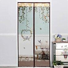 Magnetische Anti-Moskito-Vorhang Verschlüsselung mute Schlafzimmer Anti-Moskito weichen Tür Installation ist einfach ( Farbe : D , größe : 100*210cm )