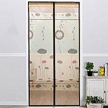 Magnetische Anti-Moskito-Vorhang Verschlüsselung mute Schlafzimmer Anti-Moskito weichen Tür Installation ist einfach ( Farbe : B , größe : 100*210cm )