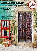 Magnetischer Türvorhang Insektenschutz 90 x 210 cm Design2 Fliegengitter