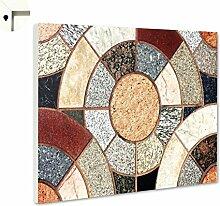 Magnettafel Pinnwand mit Motiv Muster Granit