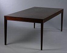 Mahagoni Ess- oder Konferenztisch aus Diplomat