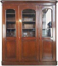 Mahagoni Furnier Bücherregal, 1880er