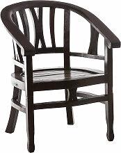 Mahagoni Stuhl Erwin mit Holzsitz-dunkelbraun