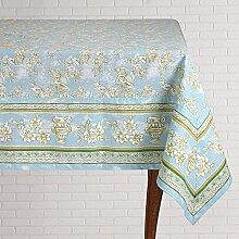 Mahagoni Tischdecke, quadratisch, Blau