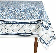 Mahagoni Tischdecke, quadratisch, weiß