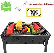 MAHEMA / Tragbarer Mini Grill inkl. Grillzange