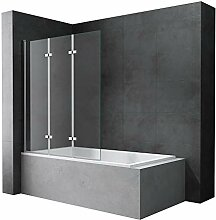 Mai & Mai Badewannen-Aufsatz 130x140cm Duschwand