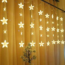 MAICOLA 136LEDs Stern-Vorhang-Schnur-Licht IP44