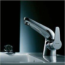 Maifeini % Kupfer Einzelne Bohrung Bad Armatur Waschtisch Armatur Mit Heißem Und Kaltem Wasser+P Mix Schlauch Tippen