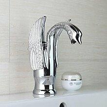 Maifeini Dauerhafte Massiv Messing Bad Armatur Waschtisch Armatur Eine Bohrung Für Das Moderne Design Der Swan Mixer