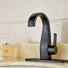 Maifeini Deck Öl Kupfer Badezimmer Waschbecken Serie Mit Deckt Eine Mischbatterie, Rosa
