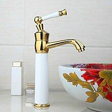 Maifeini Die Beste Moderne Badezimmer, Heißes Und Kaltes Wasser Waschbecken Tippen Sie Auf Gemischte Waschbecken Wasserhahn Gelb