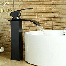 Maifeini Die Hohen Schwarzen Classic Waschbecken Im Bad Armaturen Bad Armatur Wasserfall Wasserhahn Aus Messing, Bronze