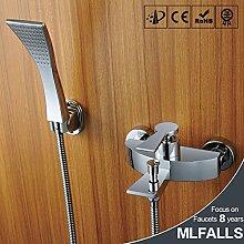 Maifeini Dusche Wasserhahn_Kupfer Badewanne Armatur Mit Heißem Und Kaltem Wasser In Der Wand Verborgene Wasserfalldusche
