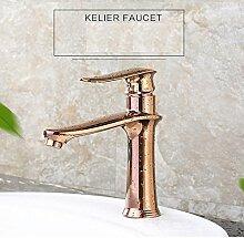 Maifeini Einfache, Moderne Rose Gold Küche Badezimmer Mit Dusche Mit Heißem Und Kaltem Wasser, Kupfer