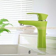 Maifeini Farbe Messing Badezimmer-Eitelkeit Pool Von Leitungswasser Küchenarmaturen Sanitär Es Gibt Drei Farbauswahl, Grün