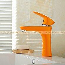 Maifeini Farbe Messing Badezimmer-Eitelkeit Pool Von Leitungswasser Küchenarmaturen Sanitär Es Gibt Drei Farbauswahl, Orange