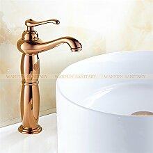 Maifeini Heißes Bad Verkaufen Wasserhahn Armatur Chrom, Messing Verchromt Waschbecken Badezimmer Faucet Single Handle Faucet, Pink Gold