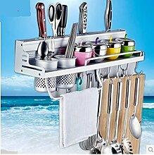 Maifeini  Küche Shelf_Küche Regal Messer Rack Mit Metall Zaun