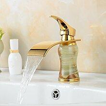 Maifeini Kühlkörper Mischbatterien Führende Desktop Vergoldeten Waschbecken Wasserhahn Bad Armatur Wasserhahn