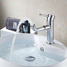 Maifeini  Liefer- Moderne Neue Ankunft Konzept Einzelne Bohrung Badezimmer Waschbecken Schwenken Wasserhahn Messing Armaturen Waschtisch Faucetchrome