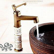 Maifeini Messing Antik Keramik Badewanne Armatur