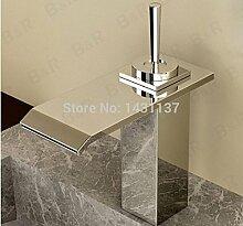 Maifeini  Messing Beschichtung Modernes Design Quadrat Waschbecken Wasserfall Armatur Mischbatterie