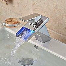 Maifeini Messing Verchromt Waschtisch Armatur Deck Für Den Auswurfkrümmer Wasserfall