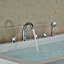 Maifeini Modernbrass Bad Badewanne Armatur Mit Handbrause Tippen Sie Auf 5 Pcs Dusche, Klar