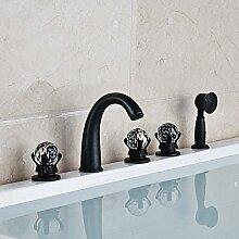 Maifeini  Moderne Deck Mount Bad Badewanne Armatur Mit Dusche Verbreitet 5 Stück Badewanne Mischer 2-Modelle, Stil 2