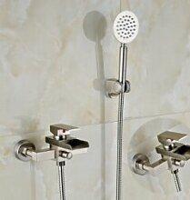 Maifeini  Moderner Square Waterfbathroom Tub Faucet W/Hand Dusche Spritze Mischbatterie, Klar