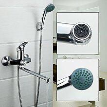 Maifeini  Modernes Badezimmer Dusche Badewanne Armatur Wasserhahn Armatur Mit Handbrause Duschkopf Wasserhahn Set Ed, Russische Föderation, Tippen Sie Auf