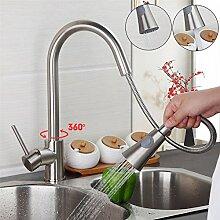 Maifeini  Nickel Gebürstet Küche Wasserhahn