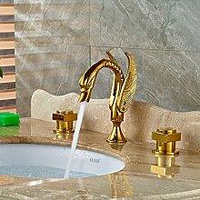 Maifeini P Kim Polen Waschbecken Wasserhahn Bad Waschbecken Abstichrinne Wasserfall Deluxe, Gelb