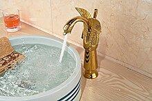 Maifeini Single Handle Faucet Golden Swan Badezimmer Waschbecken Mischbatterie