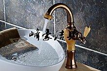 Maifeini Waschtisch Armatur Armatur Waschbecken Wasserhahn_Jade Gold