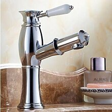 Maifeini Ziehen Sie Den Waschtischmischer Kühlkörper Klicken Sie Auf Kupfer Waschbecken Armaturen Waschtisch Waschbecken Wasserhahn Bad Armatur,Verchrom