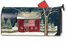 Mailbox Cover Winter Barn