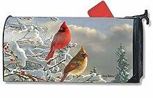 Mailbox Cover Winter Cardinals
