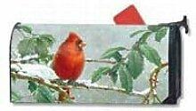 Mailbox Cover Winter Songbird