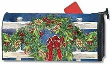 Mailbox Cover Winter Wreath