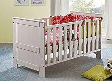 Main Möbel Babybett 70x140cm weiß Holz massiv