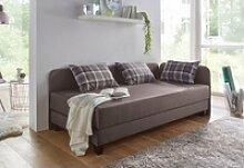 Maintal Gästebett mit Umbau und Bettkasten braun