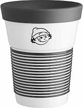 Mainzelmännchen Coffee-to-Go-Becher Porzellan