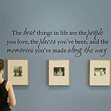 """mairgwall The Best Thing in Life sind die Menschen, die wir lieben... Family Love Wall Decor Wohnzimmer Esszimmer art-without Bilderrahmen, Vinyl, Custom, 17""""""""hx57""""""""w"""